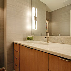 Contemporary Powder Room by The Alhadeff Group