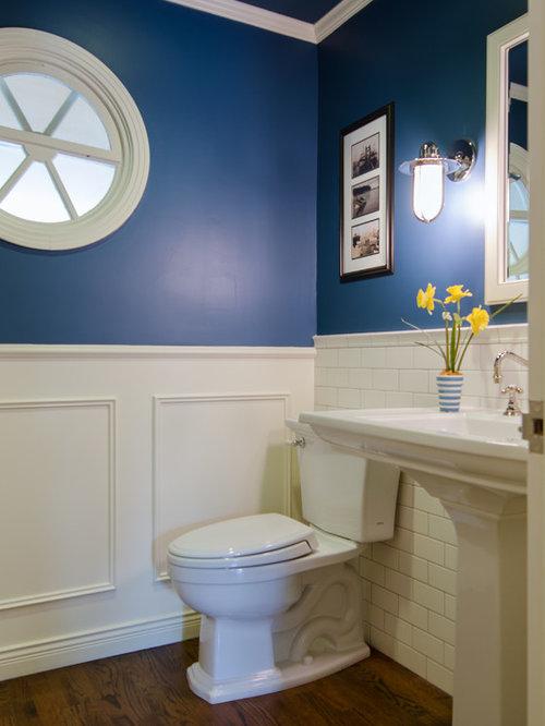 g stetoilette g ste wc mit metrofliesen und blauer. Black Bedroom Furniture Sets. Home Design Ideas