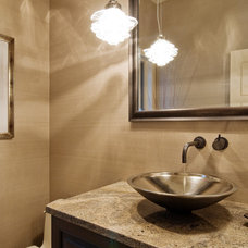 Contemporary Powder Room by Lakeville Homes