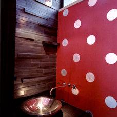 Modern Powder Room by Jerri Kunz Design