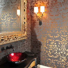 Traditional Powder Room by Anything But Plain, Inc.