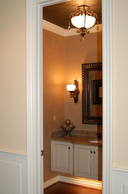 traditional powder room by Fabulous Finishes Inc