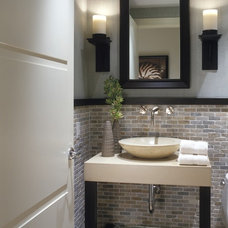 Transitional Powder Room by DWD, Inc.