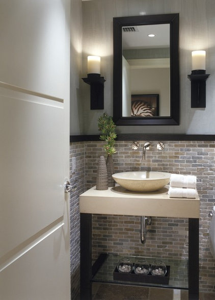 contemporary powder room by DWD, Inc.