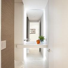 Contemporary Powder Room by DKOR Interiors Inc.- Interior Designers Miami, FL