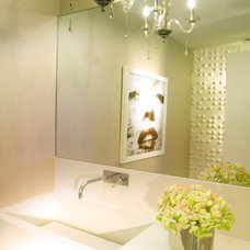 modern powder room by Britto Charette -NYC Interior Designers
