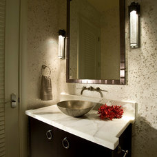 Modern Powder Room by Culbertson Durst Interiors