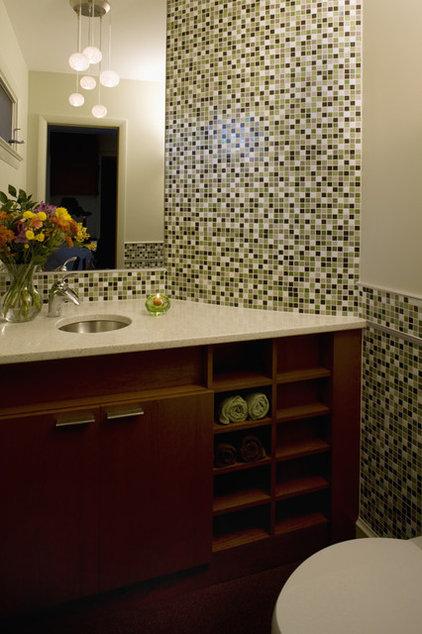 Modern Powder Room by Brennan + Company Architects