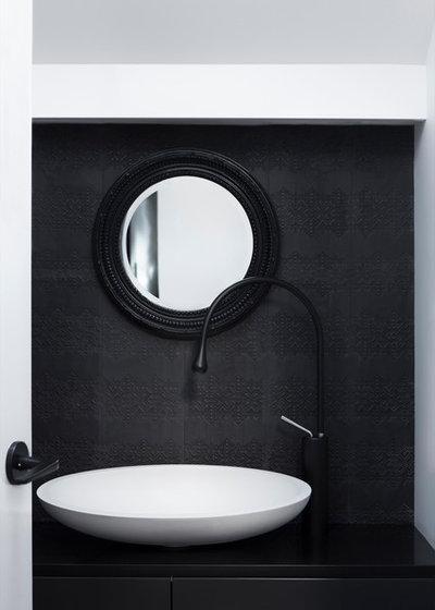 Contemporary Powder Room by Camilla Molders Design