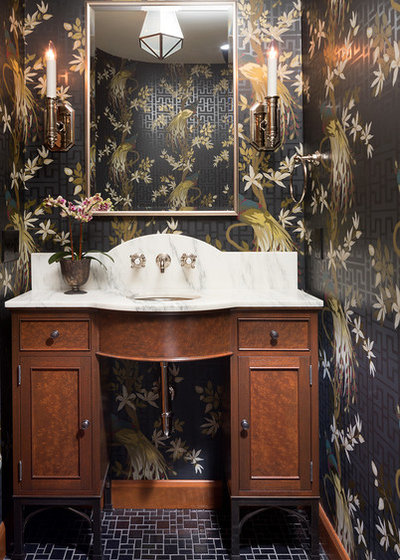 Traditional Powder Room by Rehkamp Larson Architects, Inc.