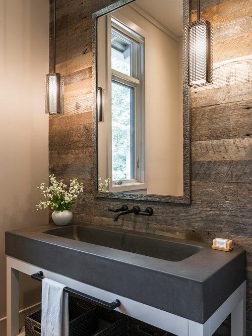 landhausstil g stetoilette g ste wc mit beton waschbecken waschtisch ideen f r g stebad und. Black Bedroom Furniture Sets. Home Design Ideas