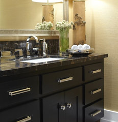contemporary powder room by Urrutia Design