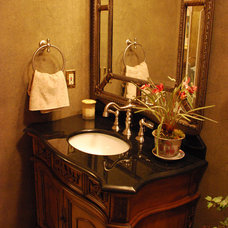 Traditional Powder Room by George Creek Construction
