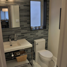 Contemporary Powder Room by Woodsmith Construction Inc