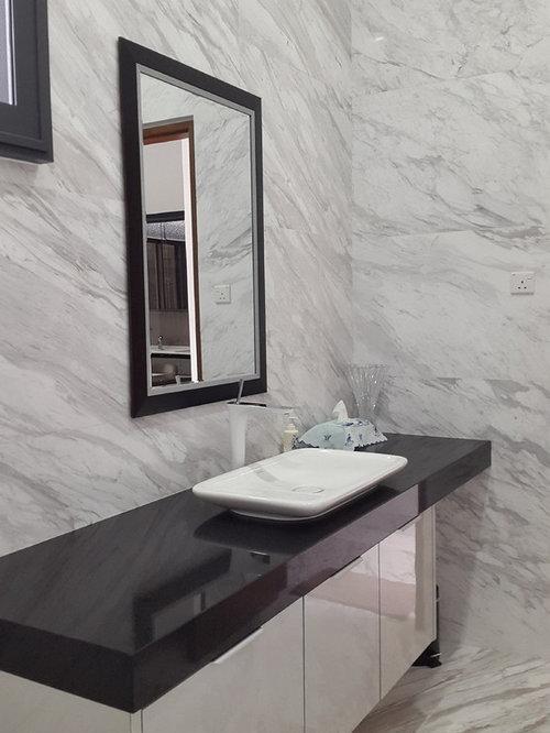 Photos et id es d co de wc et toilettes modernes avec des dalles de pierre - Photo de toilette moderne ...