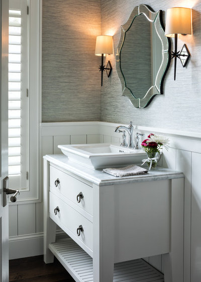 Beach Style Powder Room by Andrea Swan - Swan Architecture