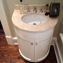 traditional powder room by CUSTOMIZED CONSTRUCTION INC