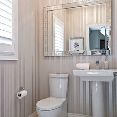Contemporary Powder Room by Valdem Built Inc.