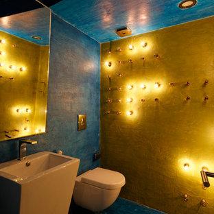 Ispirazione per un bagno di servizio shabby-chic style