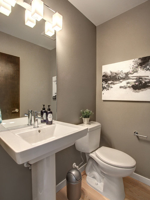 Modern powder room design ideas renovations photos with - Powder room sink ideas ...