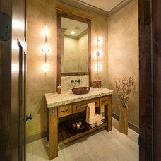 Rustic Powder Room by Carpet Direct Kansas City