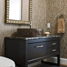 Contemporary Powder Room by Amy Werfel Interiors