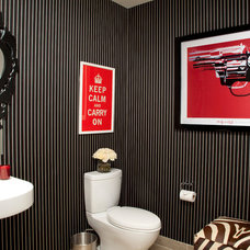 Contemporary Powder Room by Barclay Butera Interiors