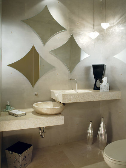 Contemporary Powder Room by Century Custom Homes LLP