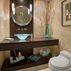 Contemporary Powder Room by Marius Daugvila