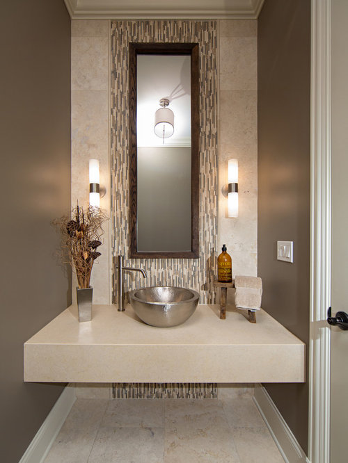 Best small powder room design ideas remodel pictures houzz - Small powder room decorating ideas ...