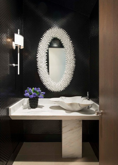Contemporary Powder Room by Denise McGaha Interiors