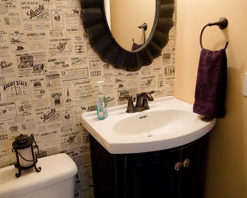 Photos et id es d co de wc et toilettes montagne avec un lavabo int gr - Toilette avec lavabo integre ...