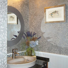 modern powder room by Golden Interiors