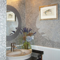 modern powder room by Golden Interiors Inc