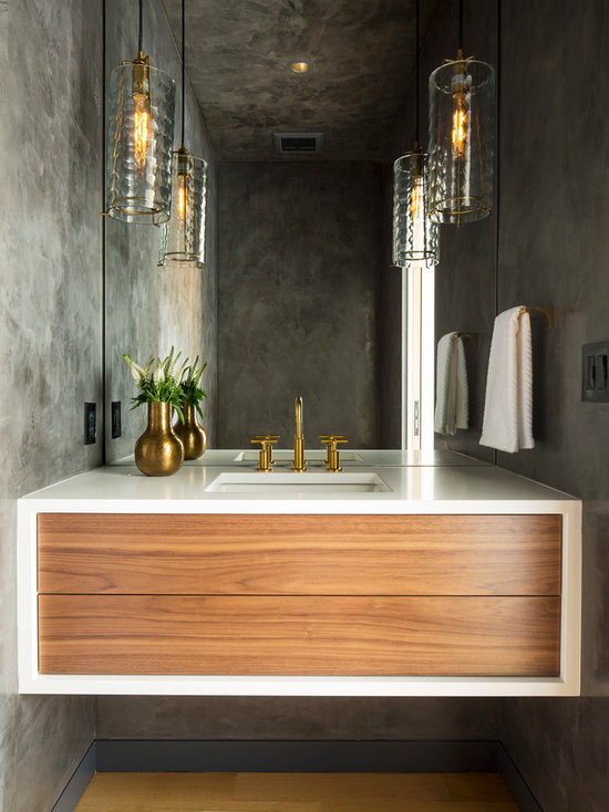 25 All-Time Favorite Powder Room with Medium Tone Wood ...