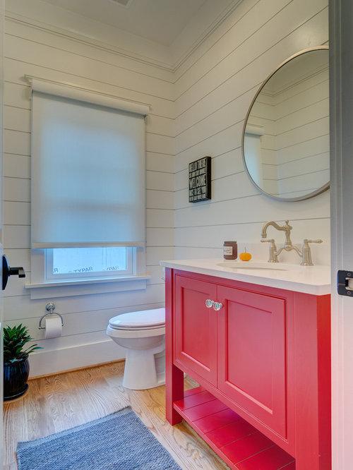Gäste Wc Landhausstil landhausstil gästetoilette & gäste-wc mit roten schränken: ideen für