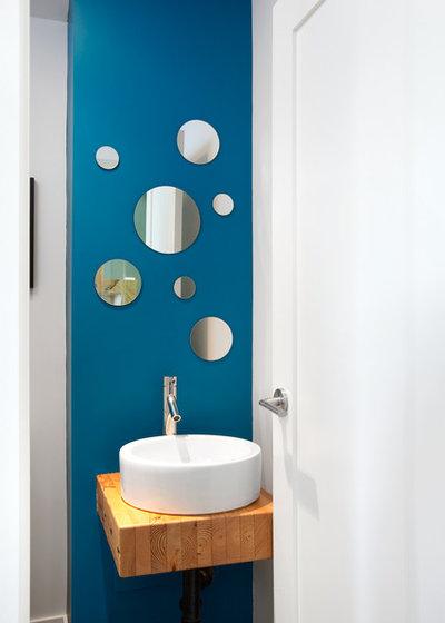 Contemporary Powder Room by Marken Design + Consulting