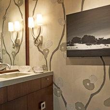 Modern Powder Room by Harte Brownlee & Associates Interior Design