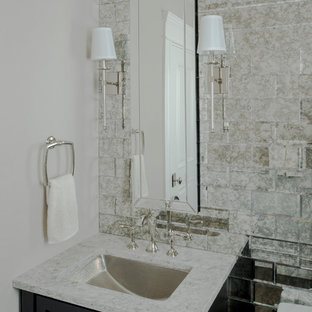 75 beautiful small modern powder room pictures & ideas | houzz