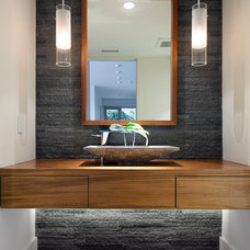 Contemporary Powder Room by Peter Vincent Architects
