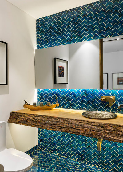Contemporary Powder Room by Studio Wood