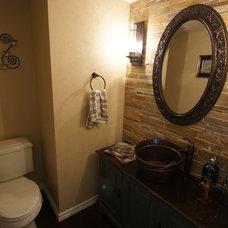 Traditional Powder Room Modern meets Rustic