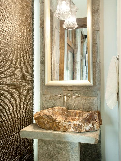 Small Rustic Powder Room Design Ideas Remodels Amp Photos