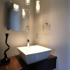 Modern Powder Room by Jordan Iverson Signature Homes