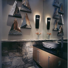 Modern Powder Room by 186 Lighting Design Group - Gregg Mackell