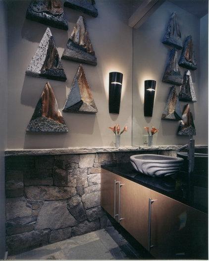 Modern Powder Room by 186 Lighting Design Group - Gregg Mackell