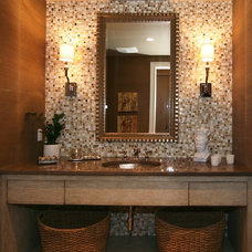 Modern Powder Room by D for Design