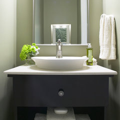 modern powder room by Jacqueline Glass and Associates