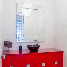 Modern Powder Room by Kitchen Craft Cabinetry Vancouver and Victoria
