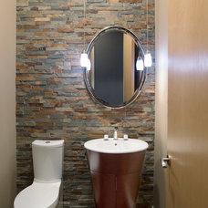 Modern Powder Room by Kristin Petro Interiors, Inc.